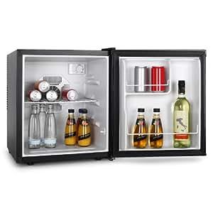 VOV VRF-48WB Minibar Getränkekühlschrank 48 Liter Minikühlschrank (kompakte 43x 50x 44cm, 1 Regaleinschub, EEK B) schwarz