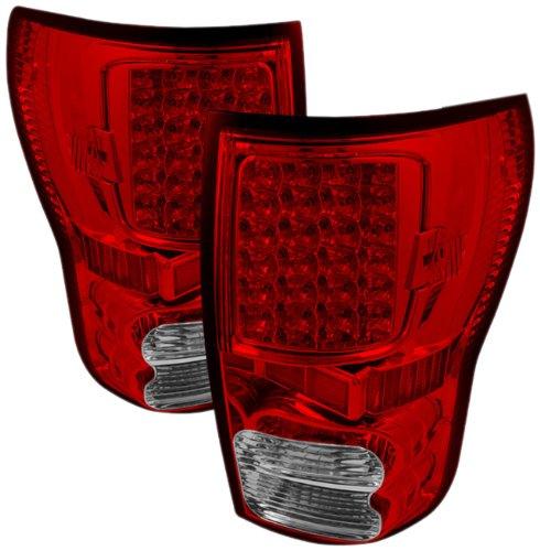 Spyder Auto Alt-On-Ttu07-Led-Rc Toyota Tundra Red/Clear Led Tail Light