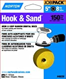 Norton 49220 5-Inch 8 Hole P150 Hook and Loop Discs, 25-Pack