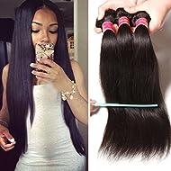 Nadula 6a Brazilian Straight Hair Weaves 3pcs/lot Virgin Remy Human Hair Bundles Natural Color (16 18 20)