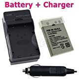 Nikon EN-EL5 / ENEL5 / CP1 Li-Ion Battery + Battery Charger with Car Adapter for Nikon CoolPix 3700 / 4200 / 5200 / 5900 / 7900 / P100 / P3 / P4 / P5000 / P5100 / P6000 / P80 / P90 / S10 Camera