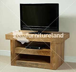 The Best  Mantis Light Natural Solid Mango TV Cabinet