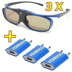 3 Stück 3D Brillen