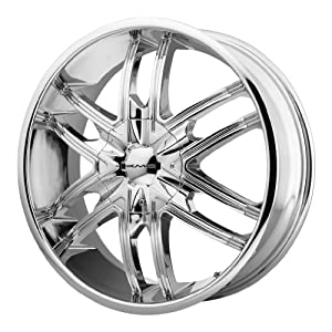 KMC KM678 22×9.5 Chrome Wheel / Rim 5×5 & 5×5.5 with a 15mm Offset and a 78.10 Hub Bore. Partnumber KM67822935215