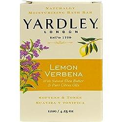 Yardley Lemon Verbena With Shea Butter Bar Soap, 4.25 Ounce