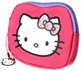 Hello Kitty - Pink Shaped Purse with Glitter Bow and Zip Dangler