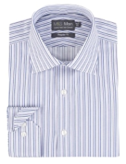 Luxury Pure Cotton Non-Iron Multi-Striped Shirt