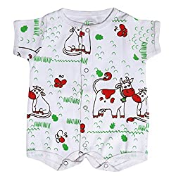 BACHHA ESSENTIAL Baby Full Romper(1001B_3months_Red_3-6 months)