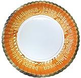 菊型紙皿ハロウィーン7号170mm(黒・茶・灰・橙・紫)5色セット