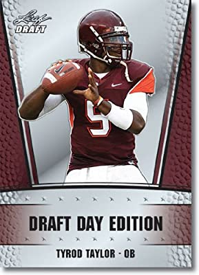 2011 Leaf NFL Draft Day Edition Football Card # 18 Tyrod Taylor RC - Baltimore Ravens (RC - Rookie Card) NFL Rookie Trading Card in Rookie Top Load Case