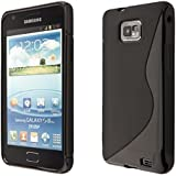 Coque de protection en TPU silicone pour Samsung Galaxy S2 i9100 S2 Plus i9105 noir - 13040401