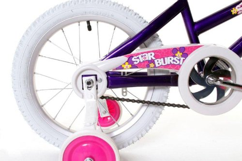 Dynacraft Magna Starburst Girl's Bike (16-Inch, Purple/White/Pink) 2