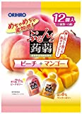 オリヒロプランデュ ぷるんと蒟蒻ゼリーパウチ ピーチ+マンゴー 20gx12個×6袋 ランキングお取り寄せ