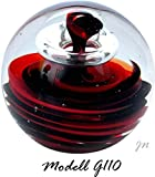 Traumkugel- Briefbeschwerer groß: Motiv Spirale in rot und schwarz -