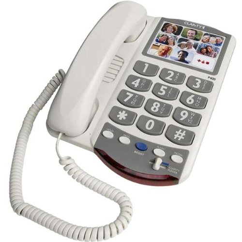 New Clarity Amplified Photo Phone Redial Flash Pause Mute Hearing Aid Compatible 9 Speed Dial Keys