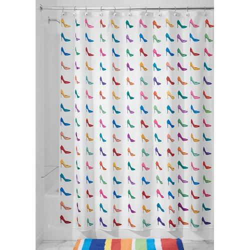 Interdesign Novelty Shower Curtain, 72-Inch By 72-Inch, Stiletto