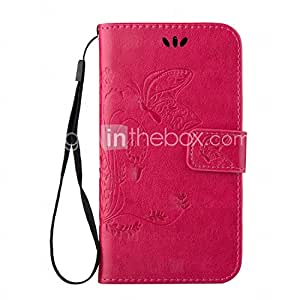 GENERIC Embossed Butterfly Purse Style with Lanyard Phones for Galaxy A5(2016) #04991728