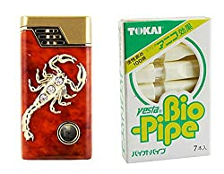 Scorpio Designer Butane Jet Flame Cigarette Lighter With Bio-Pipe-LIT115