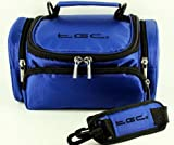 The TGC Blue Shoulder Camera Case for Canon SLR PowerShot G1 X SX40 HS SX50 HS SX500 IS VIXIA HF 21 HF G10 HF G20 HF M300 HF M40 HF M400 HF M41 HF M50 HF M500 HF M52 HF R20 Black HF R21 HF R200 HF S30 HV 40 Bridge Cameras & Camcorders