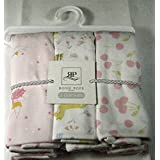 Set Of 3 Rosie Pope Swaddling Blankets For Baby Girls - Assorted Patterns
