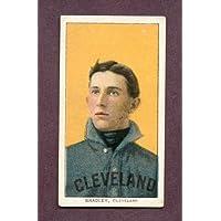 1909-11 T206 T 206 Bill Bradley Indians VG Back Damage 219758 Kit Young Cards