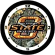 "Oklahoma State Cowboys Suntime 12"" Camo Glass Crystal Wall Clock - NCAA College Athletics"