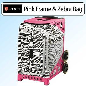 Zuca Pink Frame with Zebra(Black/White)Sport Insert Bag