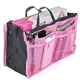 World Pride Nylon Handbag Insert Comestic Gadget Purse Organizer (Pink)