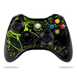 Protective Vinyl Skin Decal Cover for Microsoft Xbox 360 Controller wrap sticker skins Green Distortion