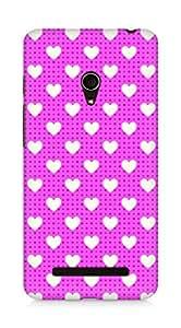 Amez designer printed 3d premium high quality back case cover for Asus Zenfone 5 (Romantic Pink Color Hearts7)