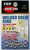 エヌ・ティ・スイベル テンマウス ウェルディッドソリッドリング(熔接リング) 100個入 (WELDED SOLID RING) (4号)