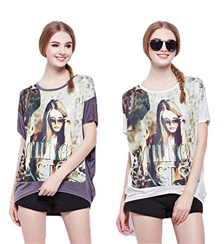 Mini abito-Maglia da donna, taglia unica, multicolore, collezione-Maglione stile CY15SS02 di qualità, taglia unica Gris (pull) Taglia unica