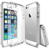iPhone SE Case, [Ringke FUSION] Crystal Clear PC Back TPU Bumper [Drop Protection/Shock Absorption Technology] for Apple iPhone SE (2016) / 5S (2013) / 5 (2012) - Crystal View