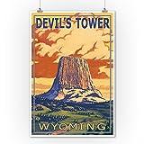 Devil's Tower, Wyoming (9x12 Art Print, Wall Decor Travel Poster)