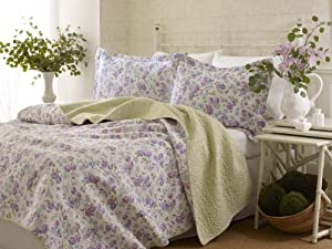 Amazon.com: Laura Ashley Annabella Quilt Set, Twin: Home & Kitchen