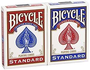"BICYCLE ""Blue & Red"": 2 Jeux-Format : Poker-Index : 2/regular"