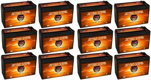 Qty 12 Vmax63 12V 10Ah Agm Sla Fresh Battery Upgrade Replaces 7Ah, 7.5Ah Ub1270, 8Ah Ub1280, 9Ah Ub1290 [Vmax63 12V 10Ah W/ F2 Tab Terminals]