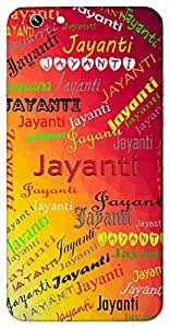Jayanti (Victorious, Durga) Name & Sign Printed All over customize & Personalized!! Protective back cover for your Smart Phone : Apple iPhone 6