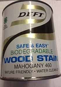 Deft Biodegradable Wood Stain Mahogany 460 Quart Water