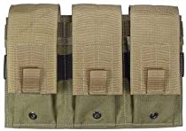 Specter Gear MOLLE/PALS Compatible Modular Triple Universal Rifle/Carbine/SMG Magazine Pouch, Foliage Green