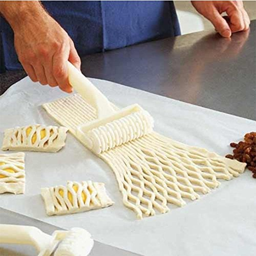 Saasiiyo Hot Sale Plastic Baking Tool Cookie Pie Pizza Pastry Lattice Roller Cutter Craft Cooking Tools Kitchen Accessories Cocina Gadget (Spring Roll Wrapper Tray compare prices)