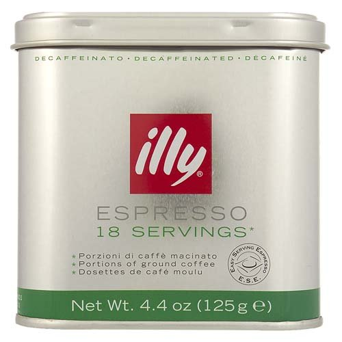 Purchase illy Tin of 18 Decaffeinated Ground Coffee Servings (Pack of 2, Total 36 Pods) from Eurdh