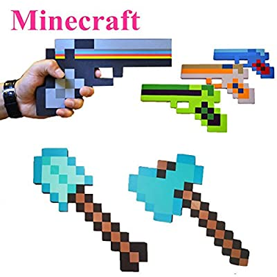 Minecraft Toys Minecraft Foam Sword Pickax Gun EVA Toys Minecraft Foam Diamond Weapons Model Toys Brinquedos for Kids from Minecraft Toys