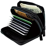 Buxton RFID Identity Safe Wallet - Prevent Electronic Credit Card Scan Theft,One Size,Black
