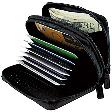Buxton RFID Identity Safe Wallet - Prevent Electronic Credit Card Scan Theft, One Size,Black