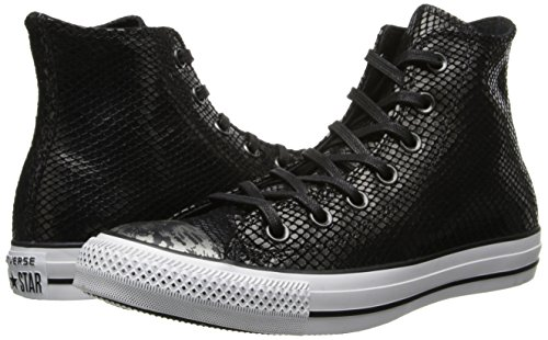Converse Womens Chuck Taylor All Star Snake Leather Hi Black Sneaker 10 B (M)