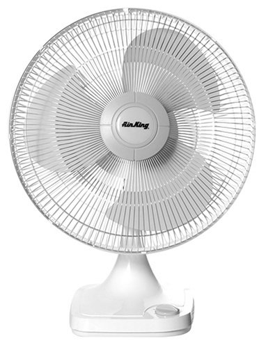 Air King 9102 12-Inch 3-Speed Oscillating Table Fan
