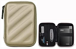 BUBM Electronics Accessories Organizer Travel Carrying Case Digital Storage Bag EVA Series for Hard drive(EHD-L,Gold)
