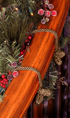 Decorative Garland Ties - 6 Pack - 20 Inch - Gold front-330059