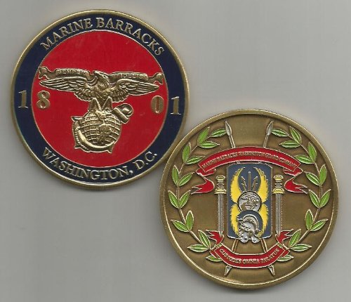US Marine Corps Marine Barracks Washington DC Challenge Coin